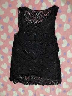 Crochet Black Cover Up