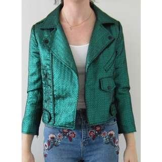 Mossman Emerald Metallic Crop Jacket Size 8 BNWT RRP $209.95