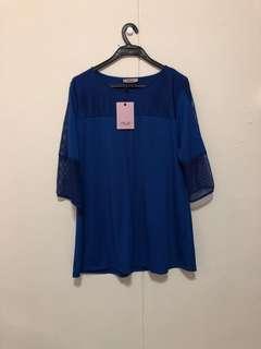 🚚 Ladies Blue Blouse