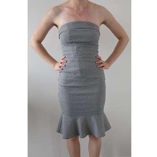Portmans Signature Black and White Mermaid Dress Size 6 RRP $149