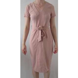 Portmans Midi Dress Blush Size 8 BNWT RRP $69.95