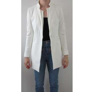 Zara Basic Collection White Blazer Size Small BNWOT
