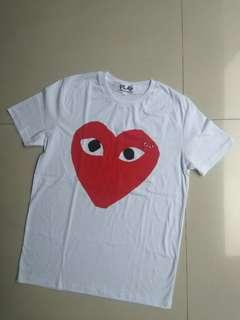 T-shirts play red heart