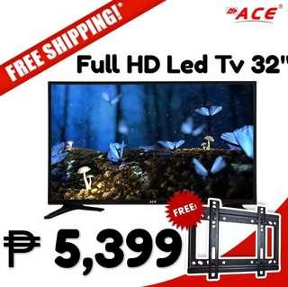 """ACE LED TV 32"""" (Slim Black) 5,399 lang Free delivery na!..with FREE Wall Bracket pa!"""