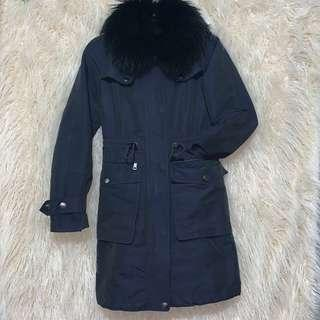 Burberry Brit Rain Trench with Fur