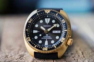 ● 🔥[CHEAPEST] BNIB Seiko SRPC44 Prospec Gold turtle