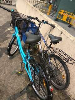 Light blue bike good condition with basket