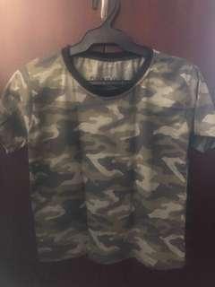 Pull & Bear Camouflage print shirt