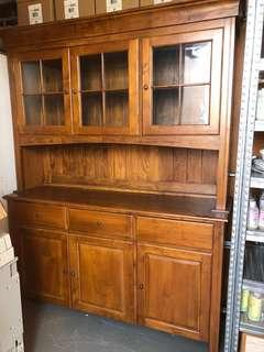For sale Solid Teak Buffet and Hutch