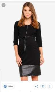 🚚 Mamalicious leather look nursing dress