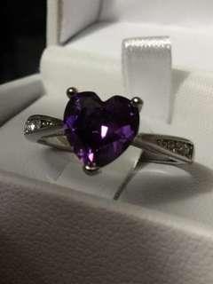 Pandora ring (heart shaped gem)