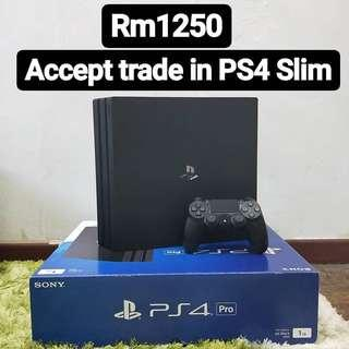 [Good condition] PS4 Pro 1TB Black