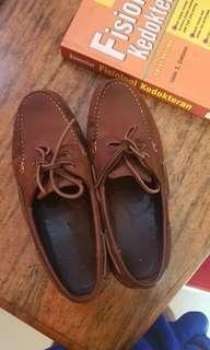 READY : Sepatu kulit boat shoes Hushpuppies Hush Puppies