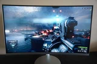 "Samsung 27"" CF591 Curved LED Monitor"