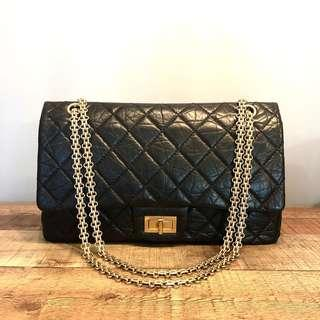 29b6b0b0e7a5b5 RESERVED Chanel Black 2.55 Reissue 227 in Aged Calf Leather Bag