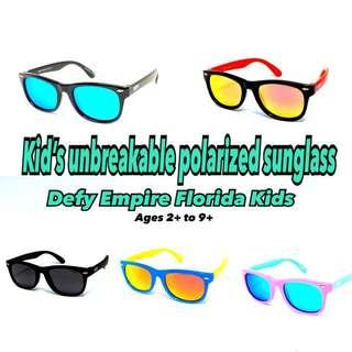 Kid's children's unbreakable Polarized high quality sunglasses by Defy Empire - Florida kids