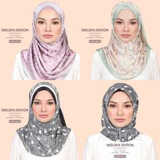 Naelofar Printed Shawl/Square - Neelofa Edition Collection