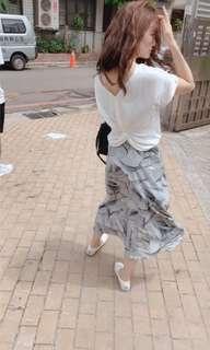 氣質雪紡絲質 長裙