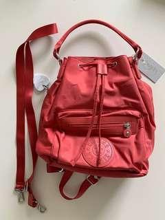 Kipling violet bucket backpack