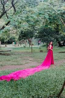 *For Rent* Prenup gown w/ 10meters long trail