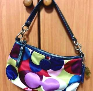 Coach Scarf Print Handbag