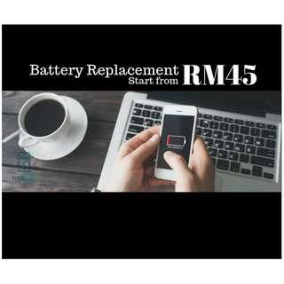 battery replacement ip5/5s RM45, warranty 3 bulan!