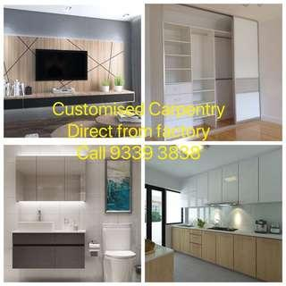 Customised carpentry direct from factory. Hdb licensed contractor. Enquire now!!