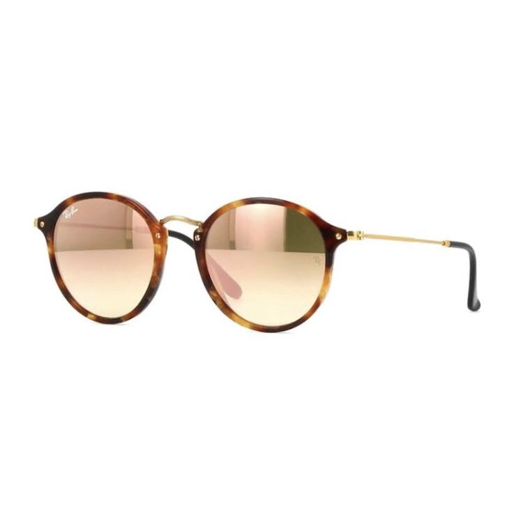 100% Authentic Rayban RB2447 Brown Havana Rose Gold