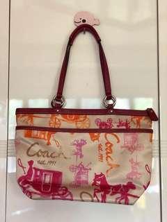 Coach Magenta Pink Tote Bag