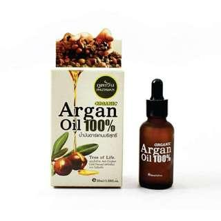 🚚 BNIB Phutawan Organic Argan Oil 100% 30ml Antioxidant Cold Pressed