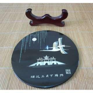 揚州螺鈿擺飾 烟花三月下揚州 (木製+螺鈿)