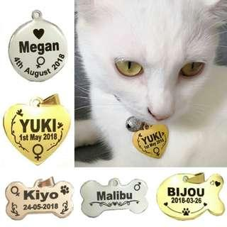 Laser Deeply  Engraved Customized Pet ID Tag For Dogs & Cats