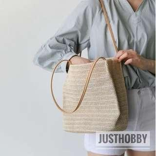 [FREE DELIVERY] Rattan Bucket Bag