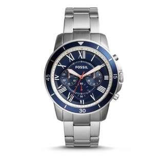 🚚 Fossil Men's chronograph stainless steel blue dial Watch