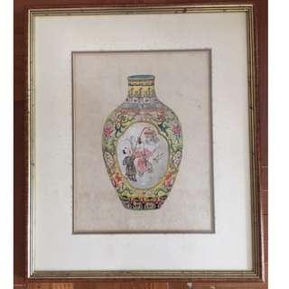Hanging Framed Pictures of Vase (Playground Yellow)