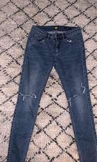 Bardot super skinny distressed jeans size 11