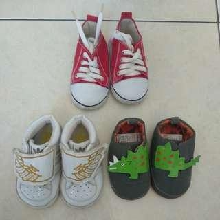 Sepatu baby boy newborn take all 3pcs
