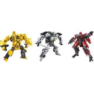 [Pre-Order] Hasbro Takara Tomy TF Studio Series Deluxe Class Wave 6 – SS39 TLK Cogman, SS40 Bumblebee Movie Shatter, SS41 ROTF Scrapmetal (Set of 3)