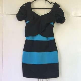 Charlotte Russe Blue And Black Dress
