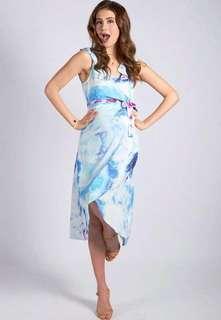 BN Brand New Jump Eat Cry Maternity Graceful Elegance Nursing Wrap Dress Mothercot Breastfeeding Dinner Wedding