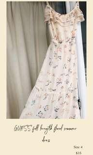 GUESS full length floral dress