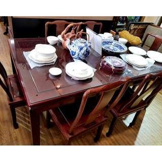 Rosewood Dinning Set