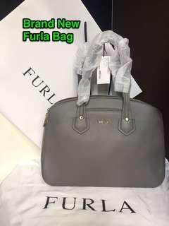Brand New Furla Double-Zipped Shoulder Bag