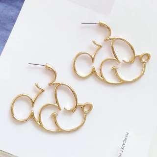 Disney Mickey Earring in gold tone