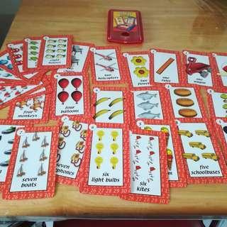 Number Preschool Flash Cards Plus Handy Holder
