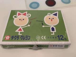 日本SAKURA 12色臘筆