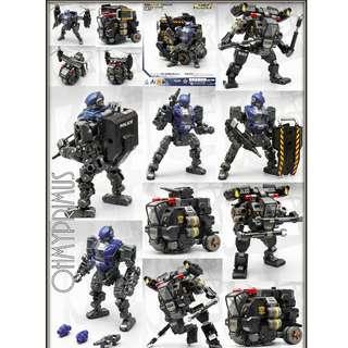 [Pre-order] MechFansToys Mech Fans Toys MFT Mech Soul SAT-07 SAT07 & SAT-08 SAT08 - Police Special Assault Team