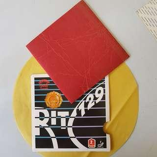 RITC729 Table Tennis rubber with double sided tape 乒乓球拍胶片与双面胶贴片