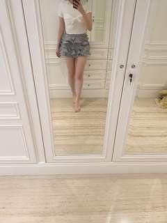 Korean ruffle polka dot shorts