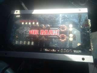 Powerfull 1500 watts dB-Max USA Monoblock Car Amplifier